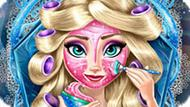 Игра Холодное сердце: Реальный макияж Эльзы