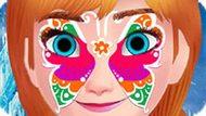 Игра Холодное сердце: Рисовать на лице Анны