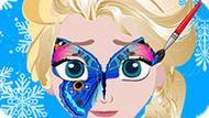 Игра Холодное сердце: Рисунки на лице Эльзы