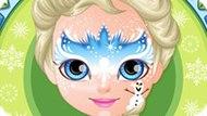 Игра Холодное сердце: Рисунки на лице малышки Барби