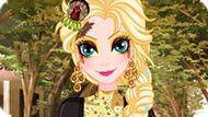 Игра Холодное сердце: Рисунок на лице Эльзы