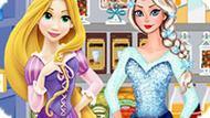 Игра Холодное сердце: Шоппинг Эльзы и Рапунцель
