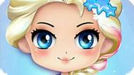 Игра Холодное сердце: Современный макияж Чиби Эльзы