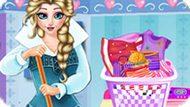 Игра Холодное сердце: Стирка Эльзы