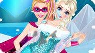 Игра Холодное сердце: Супер Барби спасает Эльзу