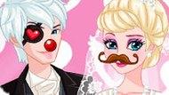 Игра Холодное сердце: Свадебное фото Эльзы и Джека