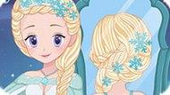 Игра Холодное сердце: Свадебные прически Эльзы