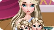 Игра Холодное сердце: Уход Эльзы за близнецами