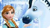 Игра Холодное сердце: Уход за королевской лошадью Анны