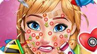 Игра Холодное сердце: Уход за Лицом Анны