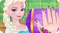 Игра Холодное сердце: Уход за ногтями Эльзы