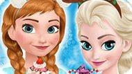 Игра Холодное сердце: Уютный отдых Эльзы и Анны