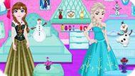 Игра Холодное сердце: Украшение комнаты Эльзы и Анны