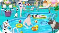 Игра Холодное сердце: Вечеринка в бассейне