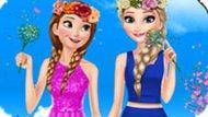 Игра Холодное сердце: Весенний день Эльзы и Анны