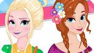 Игра Холодное сердце: Весенняя мода Эльзы и Анны
