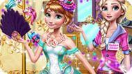 Игра Холодное сердце: Винтажные платья Эльзы