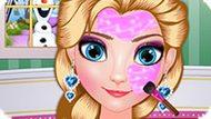 Игра Холодное сердце: Время макияжа для Эльзы