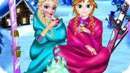 Игра Холодное сердце: Зимние выходные Эльзы и Анны