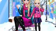 Игра Холодное сердце: Зимний день мамы Эльзы