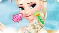 Игра Холодное сердце: Зимний макияж Эльзы