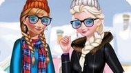 Игра Холодное сердце: Зимняя одевалка