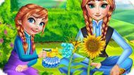 Игра Холодное средце: Анна и дочь садовники