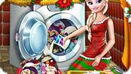 Игра Холодное средце: Эльза стирает новогодние игрушки