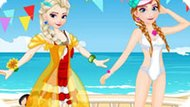 Игра Эльза и Анна: Конкурс бикини