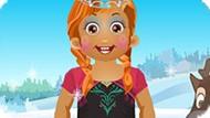 Игра Малышка Дейзи в костюме принцессы Холодное сердце