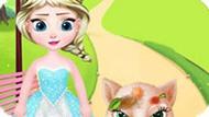 Игра Малышка Эльза спасает кота