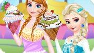 Игра Мороженое от Эльзы и Анны