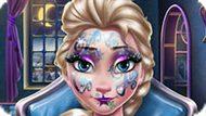 Игра Новогодний макияж Эльзы