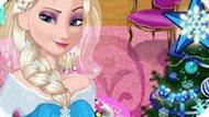 Игра Новогодняя комната Эльзы