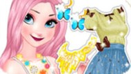Игра Принцесса Эльза бабочка