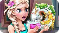 Игра Принцесса Эльза моет посуду