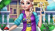 Игра Принцесса Эльзы: Дизайн кендамы