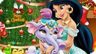 Игра Принцесса Жасмин украшает елку