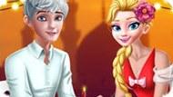 Игра Романтический ужин Эльзы и Джека