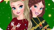 Игра Рождественские свитера Эльзы и Анны