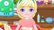 Игра Уход за малышами: Аллергия малышки Эльзы