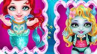 Игра Уход за малышами: Ариэль и Лагуна