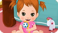 Игра Уход за малышами: Непослушная девочка