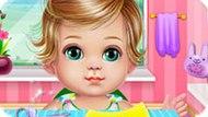 Игра Уход за малышкой и макияж