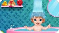 Игра Уход за малышкой в ванной