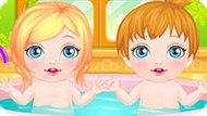 Игра Уход за новорожденными близнецами