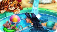 Игра Жасмин купается в бассейне