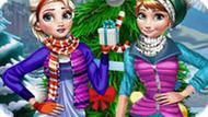 Игра Зимние праздники Эльзы и Анны