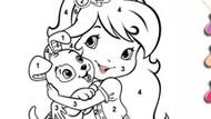Игра Шарлотта Земляничка — раскраска по номерам