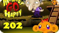 Игра Счастливая Обезьянка: Уровень 202 / Monkey Go Happy Stage 202